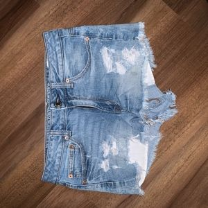 American Eagle high-waisted ripped jean shorts